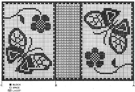 Схемы бабочек для филейного
