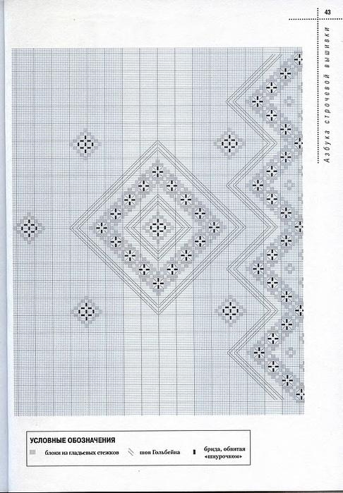 Схемы строчевой вышивки 76
