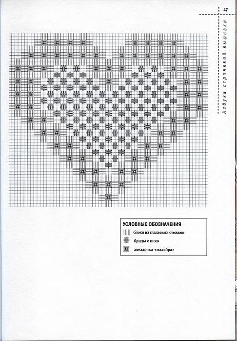 Схемы строчевой вышивки 70