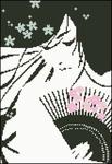 Японка с веером.  Просмотров: 1829 Загрузок: 604 Добавил: Igolka Дата.  Черно-белые и графика.