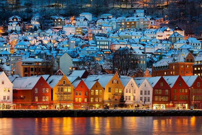 Берген, Норвегия (700x466, 484Kb)