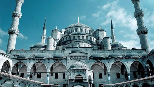 Голубая мечеть в Стамбуле, Турция (604x340, 195Kb)