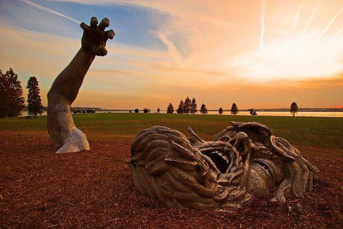 Скульптура Пробуждение, парк Хэйнс Пойнт, Вашингтон, США (700x466, 446Kb)
