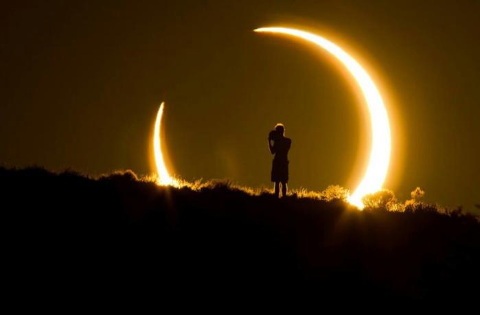 Солнечное затмение в Альбукерке, Штат Нью-Мексико, США (700x459, 121Kb)