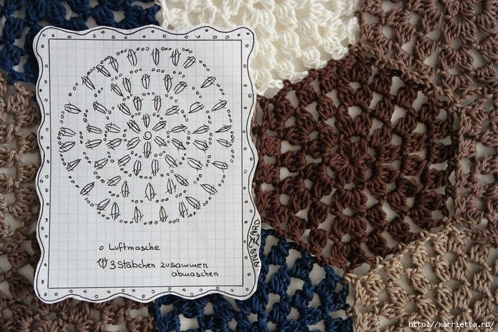 Mantas y almohadas gancho.  Diagramas (10) (700x466, 346KB)