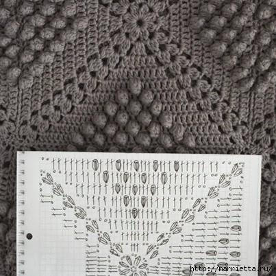 Mantas y almohadas gancho.  Diagramas (22) (403x402, 135KB)