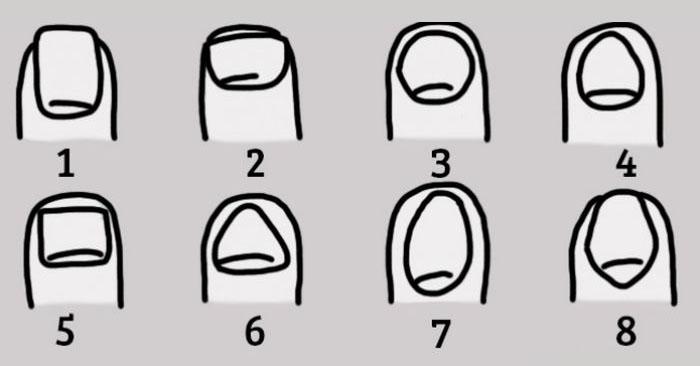 Характер человека и форма его ногтей