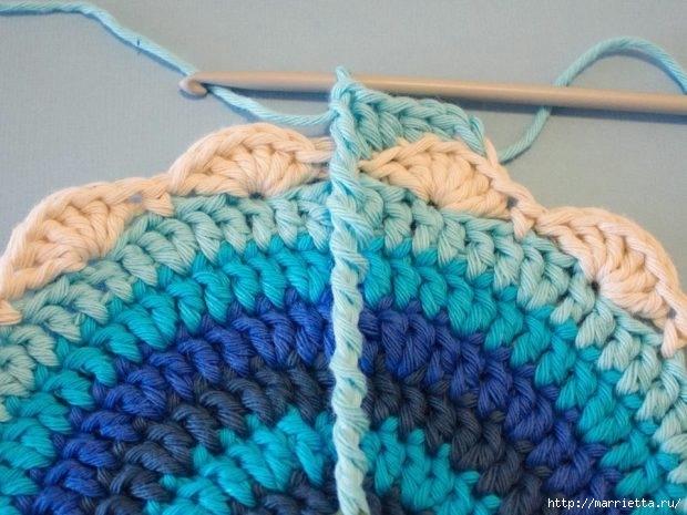 Салфетка подставка под горячее вязание крючком