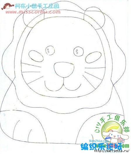Львенок и слоненок - шьем детскую сумочку (5) (448x523, 101Kb)