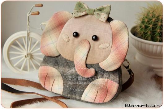 Львенок и слоненок - шьем детскую сумочку (13) (530x353, 128Kb)