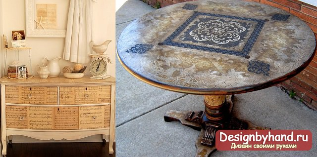 декорирование мебели своими руками фото