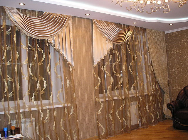 Дизайн шторы в зал своими руками фото