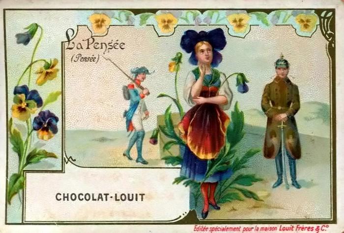 Язык цветов старинные открытки 69