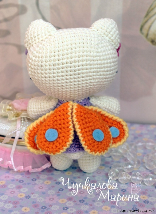 Кошечка - бабочка. Игрушка амигуруми крючком (3) (508x700, 253Kb)