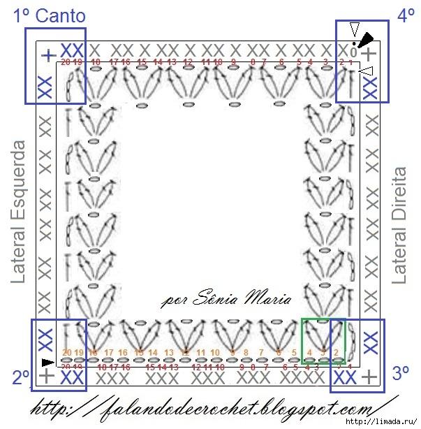 BASE BARRA DE CROCHE CANTO MANTA DE CROCHE PARA BEBE (603x614, 220Kb)