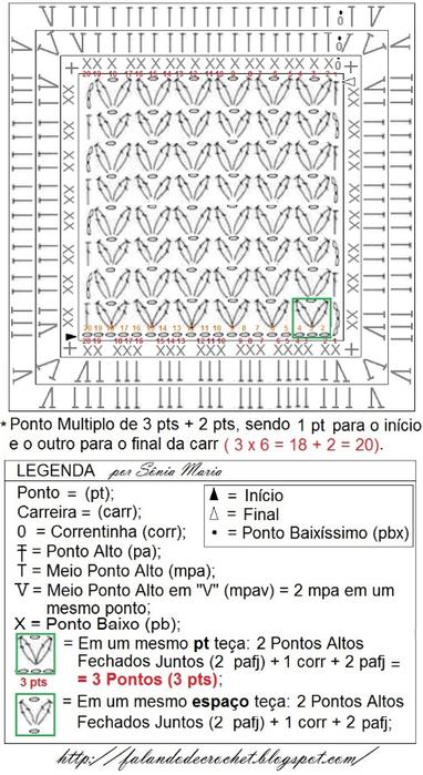 MANTA DE CROCHE PARA BEBE COM GRAFICO 1 (382x700, 270Kb)