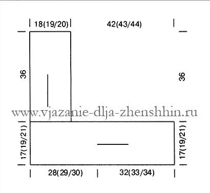 Теплый вязаный капюшон спицами - (410x377, 39Kb)
