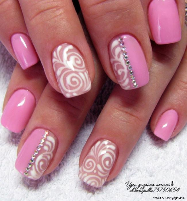 Варианты ногтей гель лаком с рисунком красивые