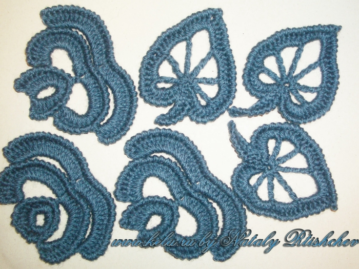 Вязание на бурдоне ирландское кружево 7