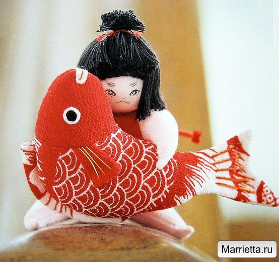 Шьем традиционную японскую куклу. Юный силач - Кинтаро (6) (554x521, 350Kb)