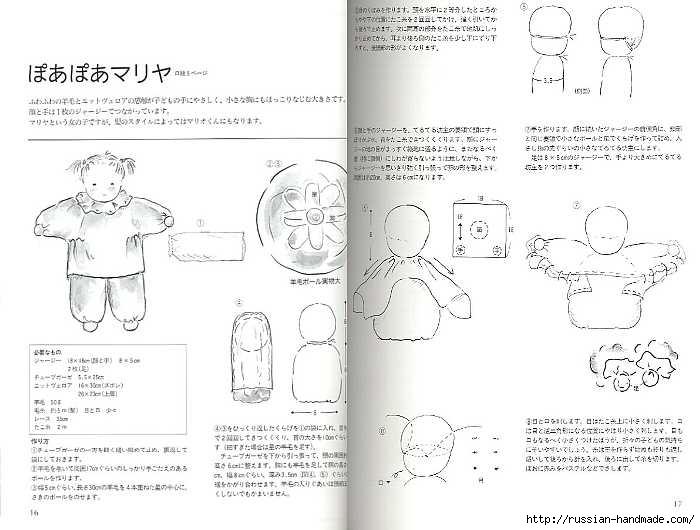 Как сшить японскую куклу. Журнал с выкройками (29) (700x530, 152Kb)