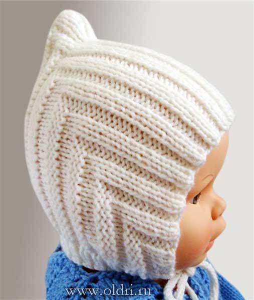 детские вязаные шапки - Самое