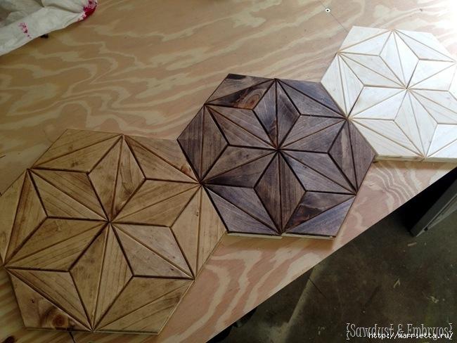 Геометрическое панно из деревянных треугольников (4) (650x488, 195Kb)