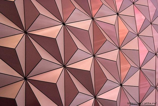Геометрическое панно из деревянных треугольников (11) (650x436, 228Kb)