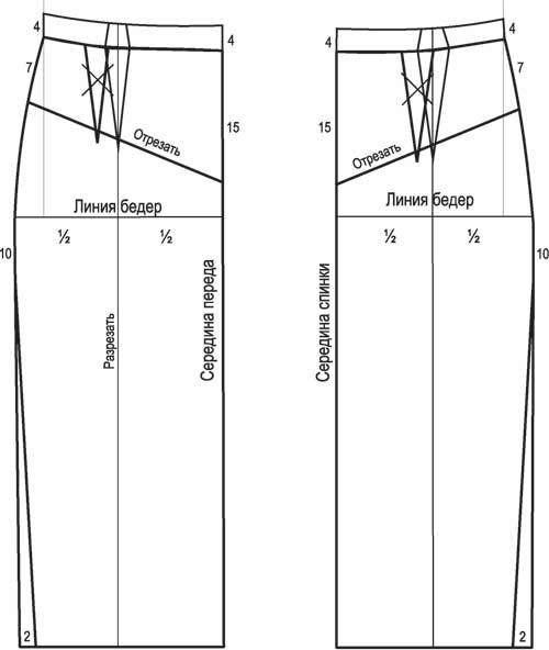 Как сшить кожаную юбку выкройки