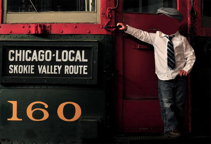 Шаблон для фотошопа - Мальчик на поезде (700x479, 211Kb)