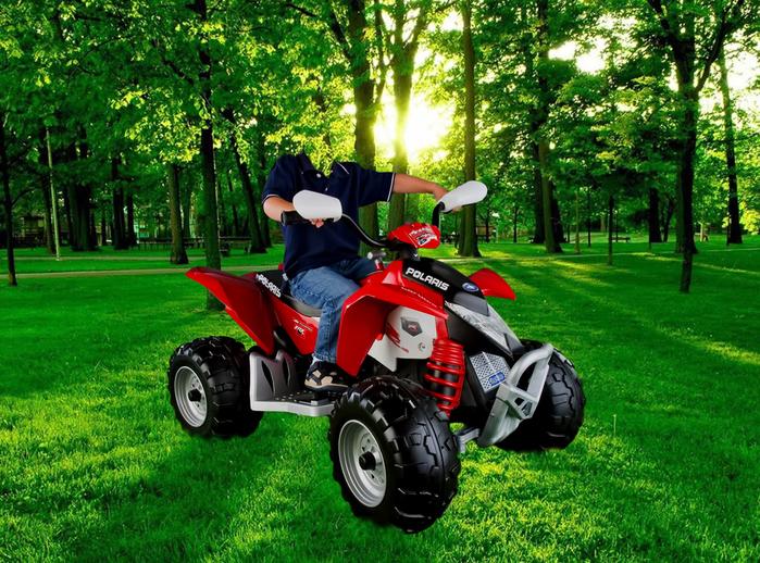 Шаблон для фотошопа - Мальчик на квадроцикле (700x518, 496Kb)