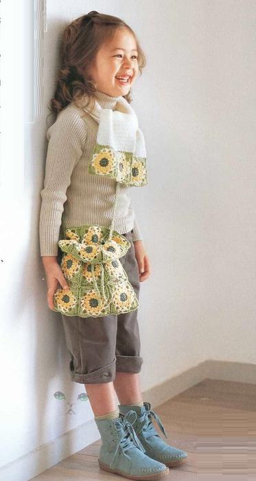 Сумочка и шарфик крючком для маленькой модницы (1) (373x700, 236Kb)
