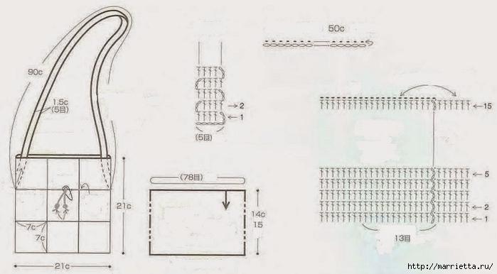 Сумочка и шарфик крючком для маленькой модницы (5) (700x386, 135Kb)