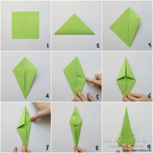 Складываем тюльпаны в технике оригами (2) (626x626, 126Kb)