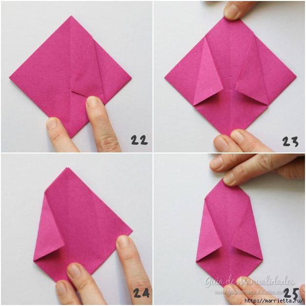 Складываем тюльпаны в технике оригами (6) (626x626, 164Kb)