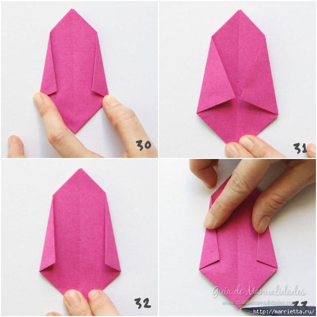 Складываем тюльпаны в технике оригами (8) (626x626, 151Kb)
