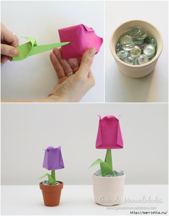 Складываем тюльпаны в технике оригами (10) (547x700, 165Kb)