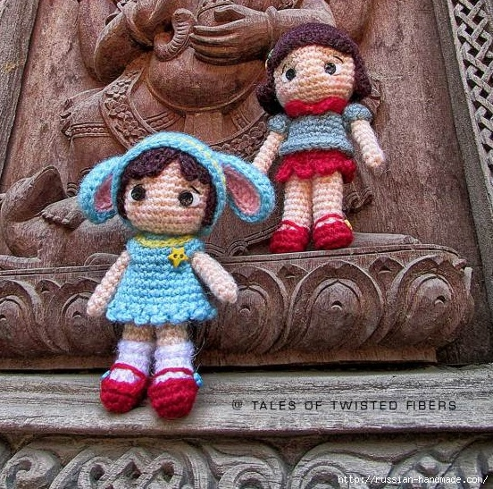 Амигуруми. Маленькая девочка в костюме зайчика. Описание (2) (552x547, 341Kb)