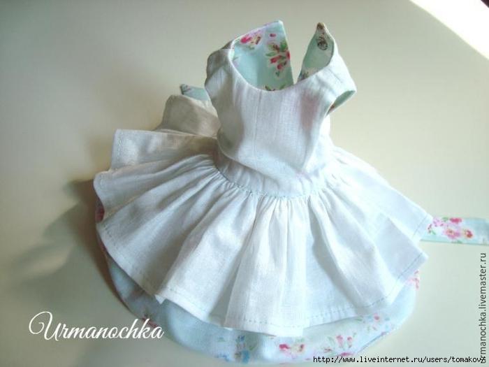 Как сшить платье для куклы мастер класс