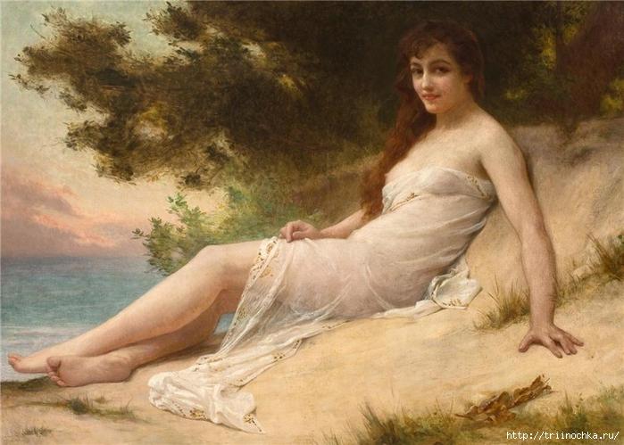 Художник Синьяк Гильом - Франция. Есть женщины - нимфы-морские, лесные...