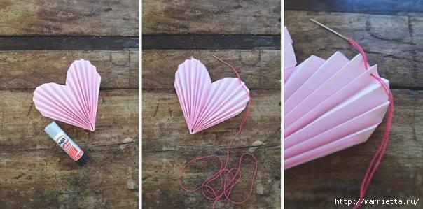 Гирлянда из сердечек для оформления свадебного торжества (5) (604x299, 103Kb)
