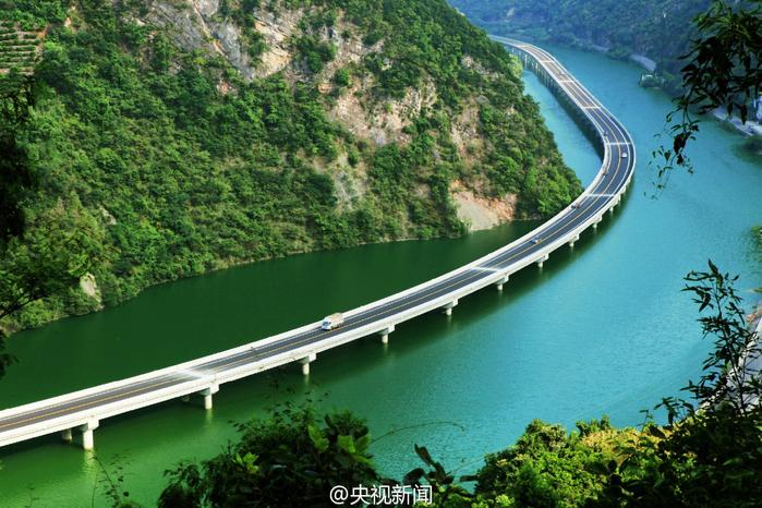 мост вдоль реки китай 1 (700x466, 505Kb)