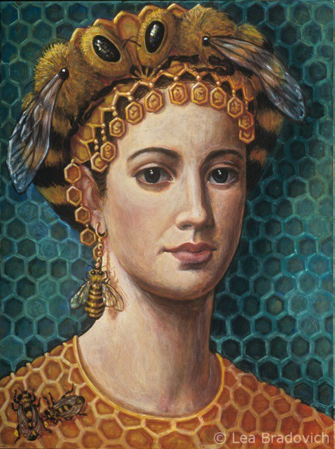 byzantine-queen-bee-with-drone-earing (478x640, 362Kb)