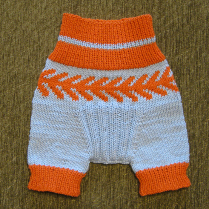 Шорты в полоску для мальчика,  Вязание для детей