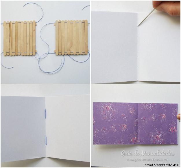 Записная книжка своими руками с обложкой из палочек от мороженого (4) (626x580, 143Kb)