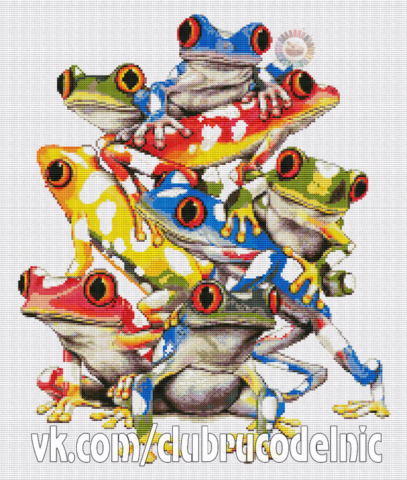 Colorfull Frogs (593x700, 709Kb)