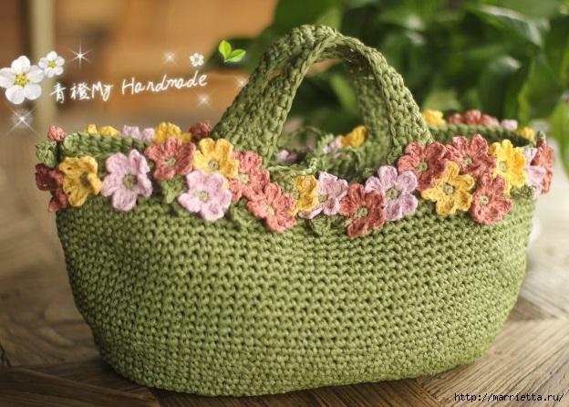 Вязание крючком. Летние сумочки с цветами (4) (624x446, 227Kb)