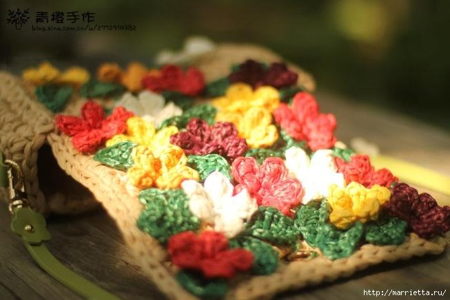 Вязание крючком. Летние сумочки с цветами (6) (653x436, 160Kb)