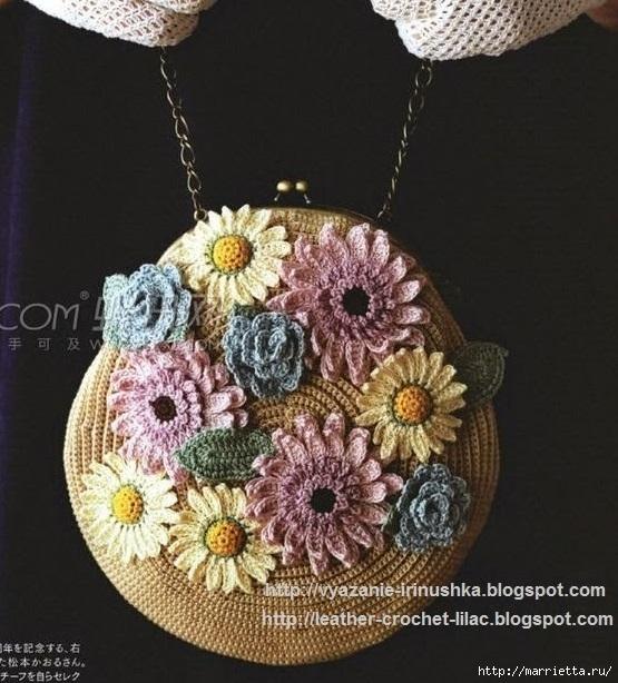 Вязание крючком. Летние сумочки с цветами (12) (555x614, 218Kb)