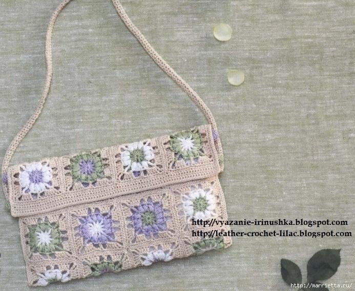 Вязание крючком. Летние сумочки с цветами (16) (693x568, 352Kb)
